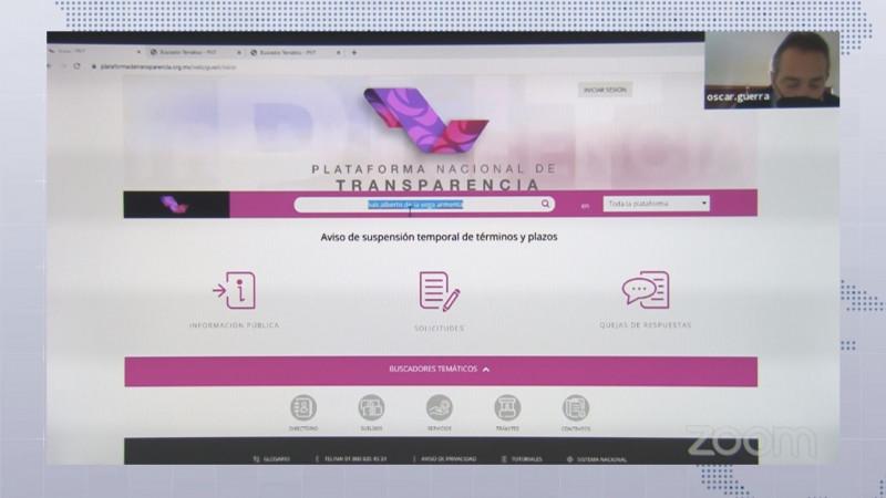 CEAIP presenta nuevo buscador de la Plataforma  Nacional de Transparencia