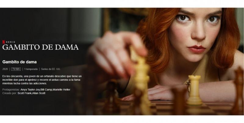 """""""Gambito de Dama"""": la miniserie más vista de Netflix que ha multiplicado el interés de la gente por el ajedrez"""