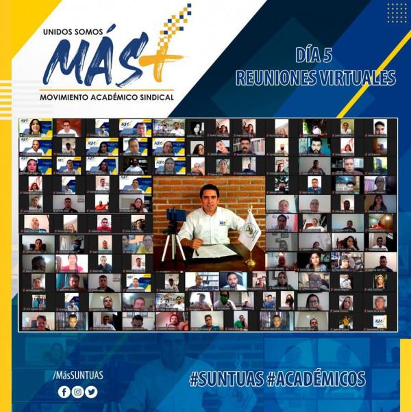 Cierra candidato a Comité Ejecutivo del SUNTUAS Académicos sus exposiciones virtuales