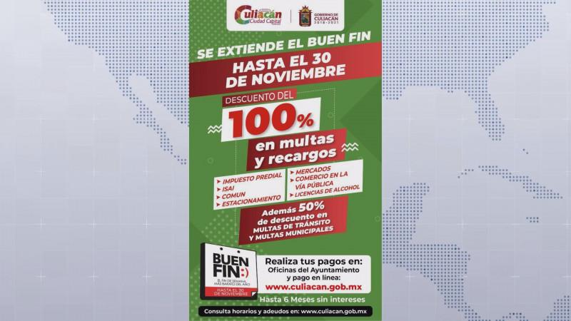 El Ayuntamiento de Culiacán extiende su programa de descuentos hasta el 30 de noviembre