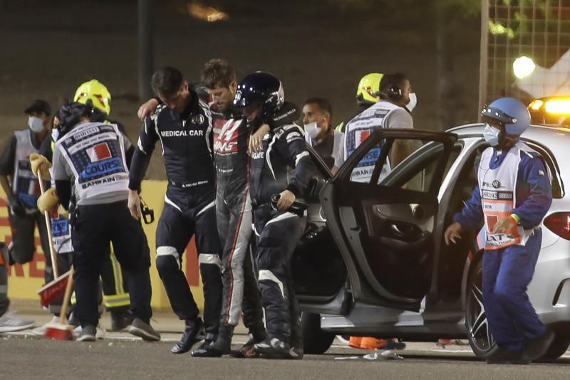 HALO salvo la vida de Romain Grosjean