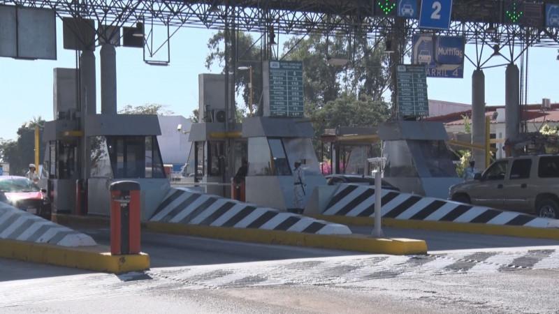 Operan con normalidad casetas de peaje de Sinaloa tras haber sido liberadas
