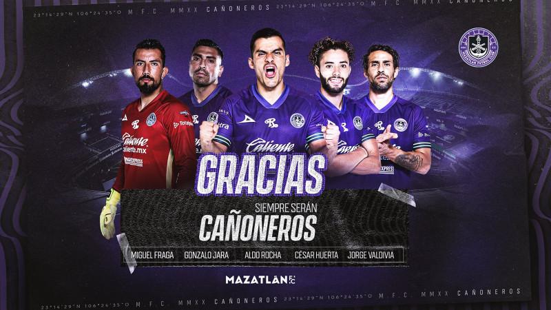 Mazatlán F.C. hace oficial la baja de 5 jugadores