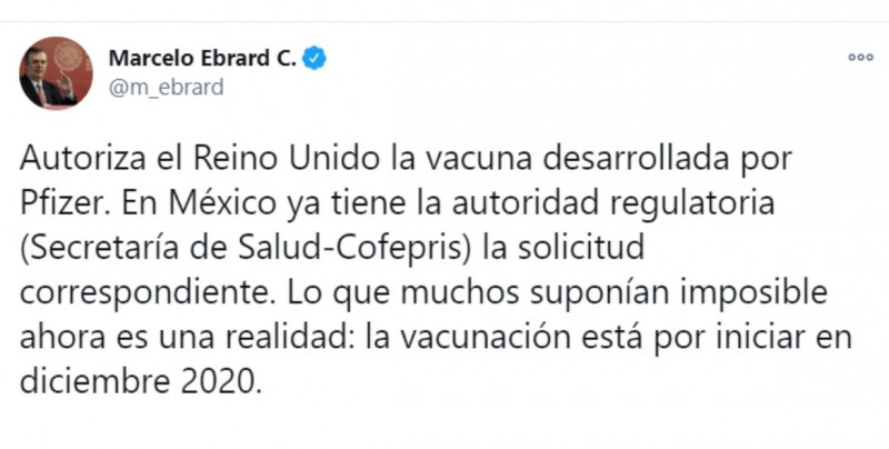 México confirma que vacuna de Pfizer está aprobada por Cofepris y en este diciembre inicia la vacunación