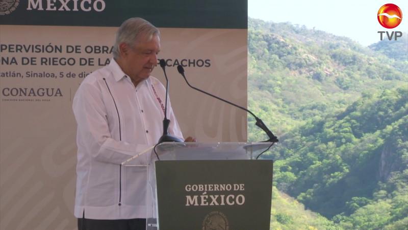 Reafirma su compromiso de culminar el distrito de riego en la Presa Picachos