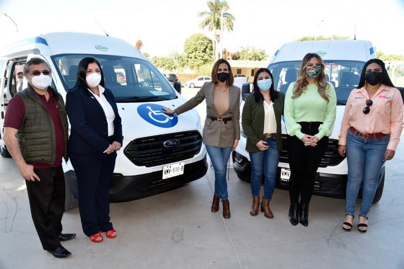 Entrega DIF Sinaloa unidades móviles y equipos para DIF de Ahome y Guasave