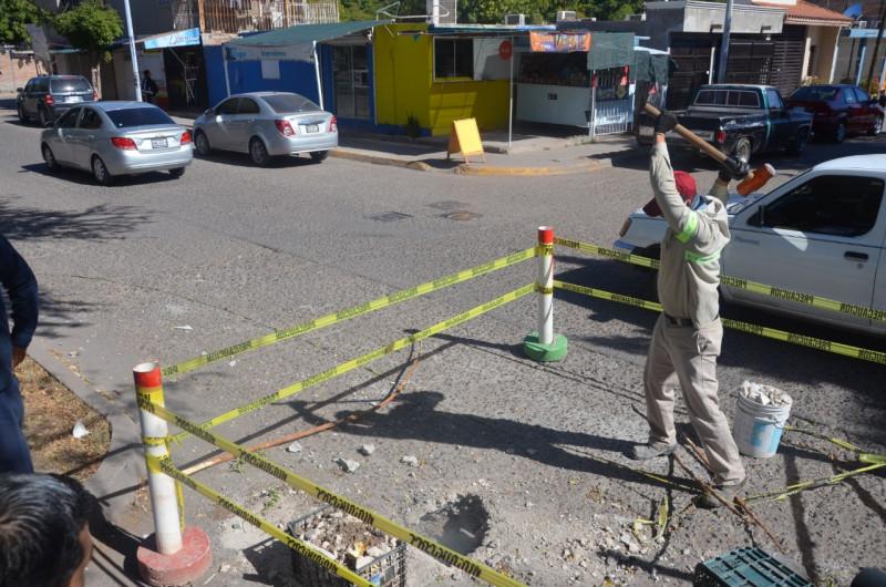 Inicia Japama reparación de socavón de las Arboledas