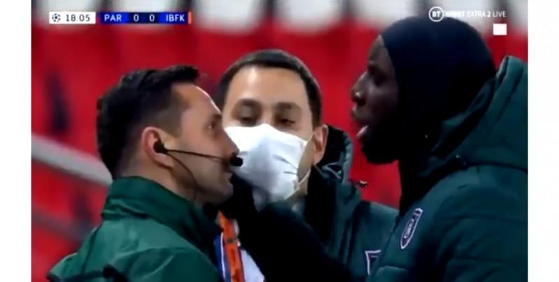 Estambul y PSG se retiran a medio partido de Champions League por insulto racista del 4to árbitro