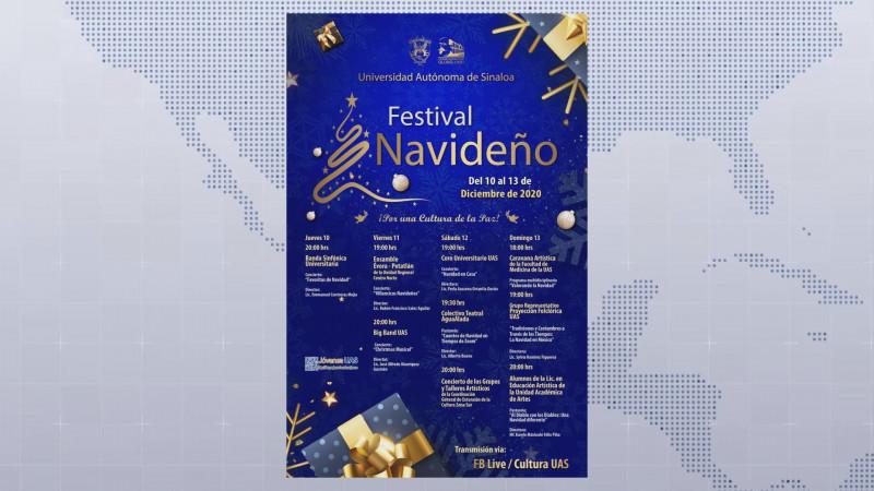 Del 10 al 13 de Diciembre se realizará el Festival Navideño de la UAS