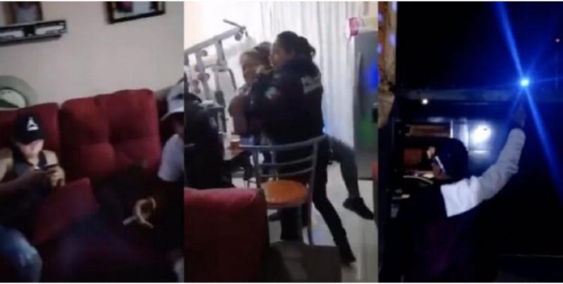 Graban a policías municipales de Morelia ebrios y tirando balazos al aire