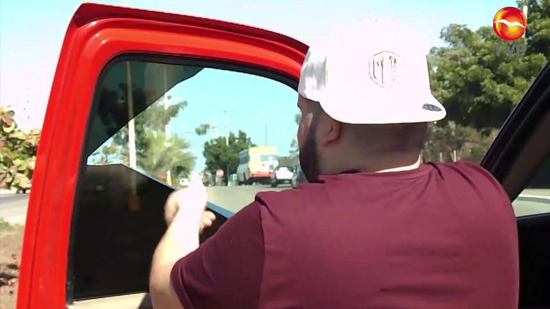 Retirarán polarizados de autos en Mazatlán