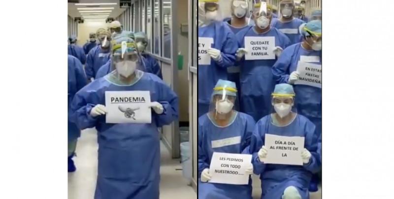 Médicos y enfermeras del IMSS hacen video para pedirte que no asistas a fiestas en esta navidad