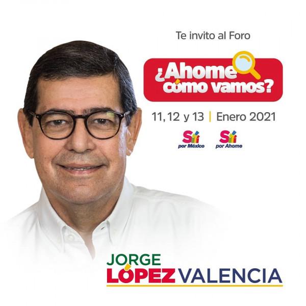 """presenta empresario Jorge López Valencia foro """"¿Ahome cómo vamos?"""""""