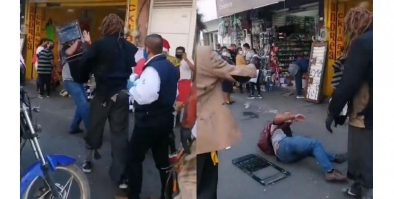 Luchadores promueven el uso de cubrebocas... ¡a sillazos! (video)