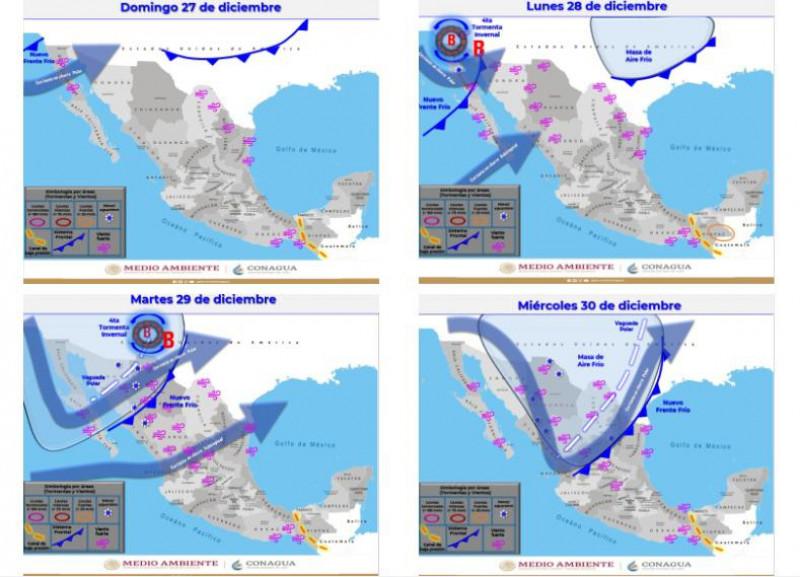 Temperaturas de 4 grados para Sinaloa en cierre de año