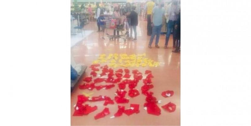 ¿Se preparaban para año nuevo? Atrapan a Blanca y a Cinthya robando 60 calzones rojos y amarillos de un Walmart