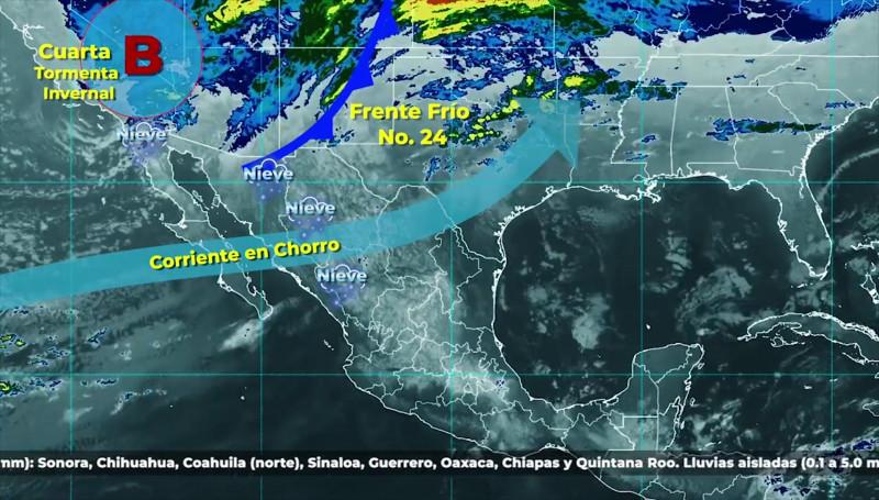 Pronostican temperaturas bajas para Sinaloa