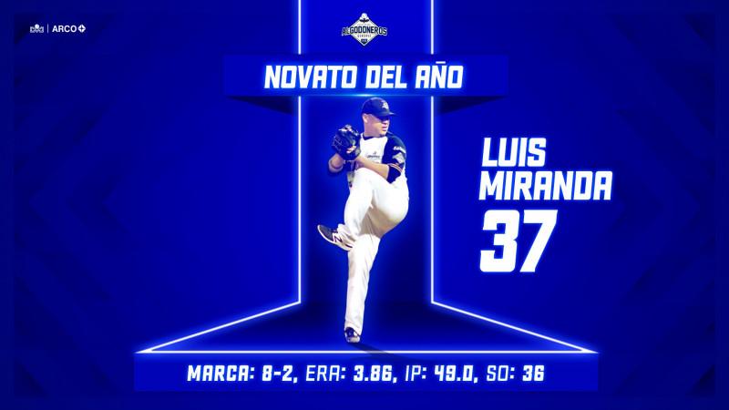 Luis Miranda se convierte en el novato del año de la LMP