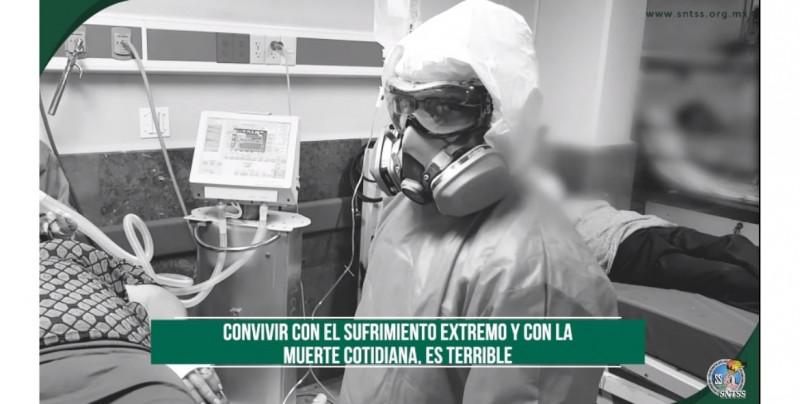 """Médicos del IMSS difunden video: """"Estamos muy cansados y no vemos el final del túnel"""""""
