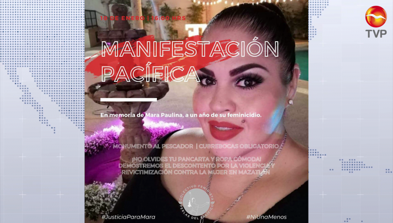 Invitan a manifestación en memoria de Mara Paulina en Mazatlán