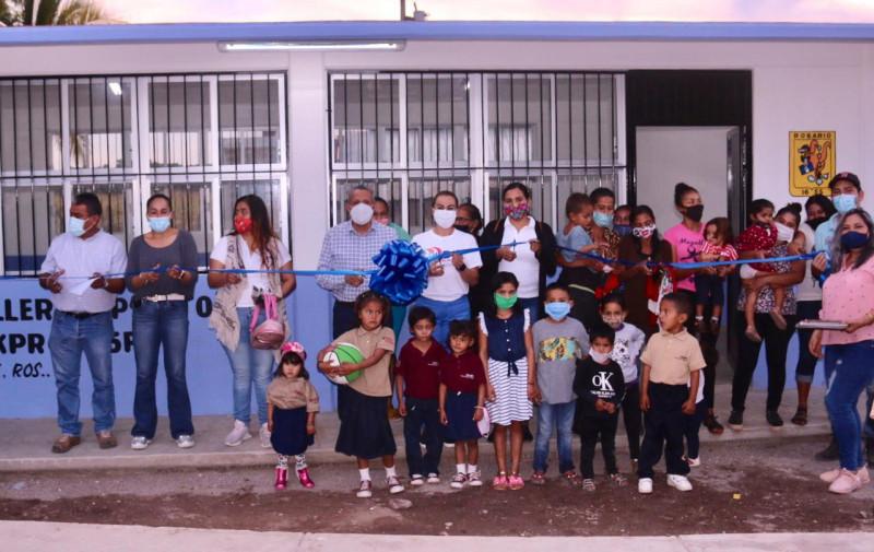 Estrenará nueva aula los alumnos de la escuela primaria Guillermo Prieto, en Rosario