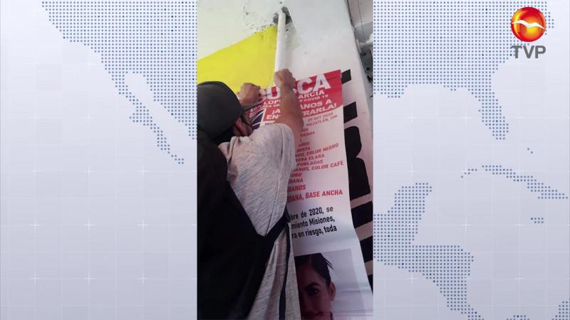 Colocan pesquisas de desaparecidas en Mazatlán