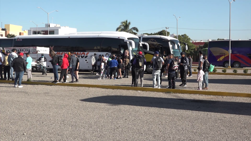Siguen llegando turistas en grandes grupos a Mazatlán