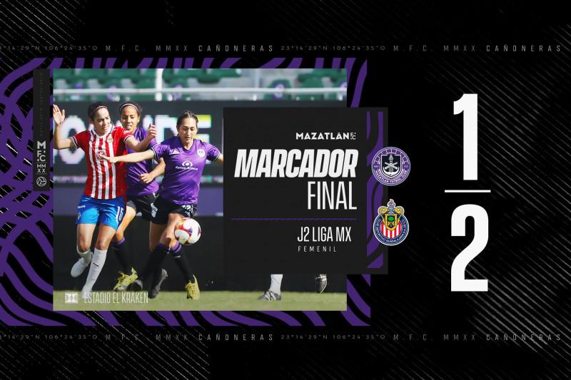 Mazatlán FC cae en casa ante Chivas Femenil en la Jornada no.2