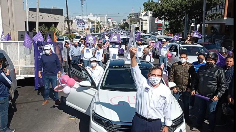 "Cuén Ojeda arranca pre campaña con ""mega"" caravana"