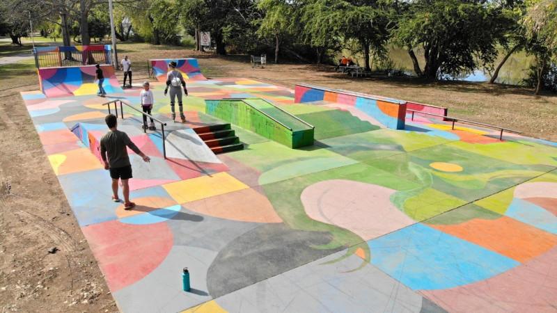 """""""Santuario de la Iguana"""", lo pintan en el Parque las Riberas"""