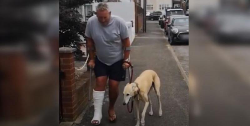 Se frustra haciendo estudios médicos a su perro para saber por qué cojeaba y se entera que solo lo imitaba