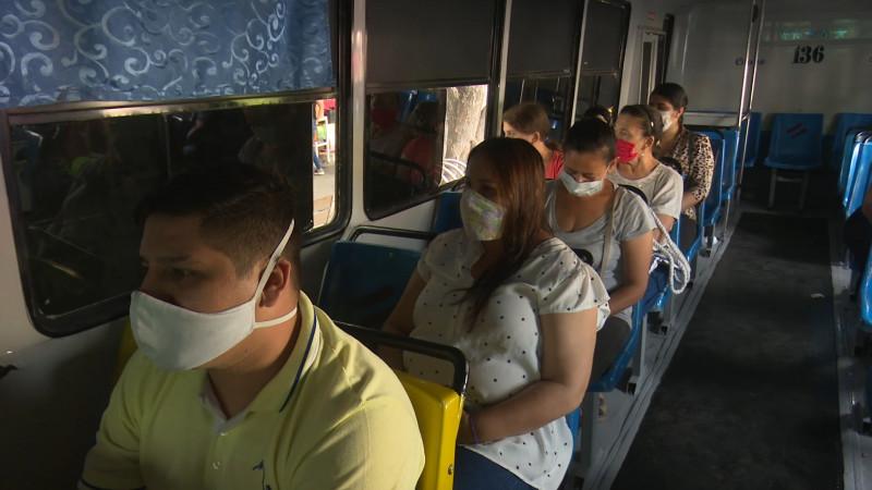 Hasta 24 sanciones al día en el transporte público por violar medidas sanitarias