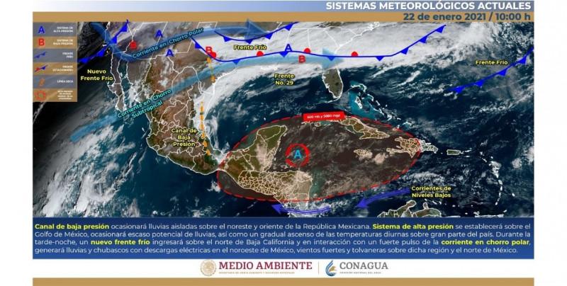 Frío y lluvias en Sinaloa y Sonora por nuevo frente frío que entrará a México entre este viernes y sábado