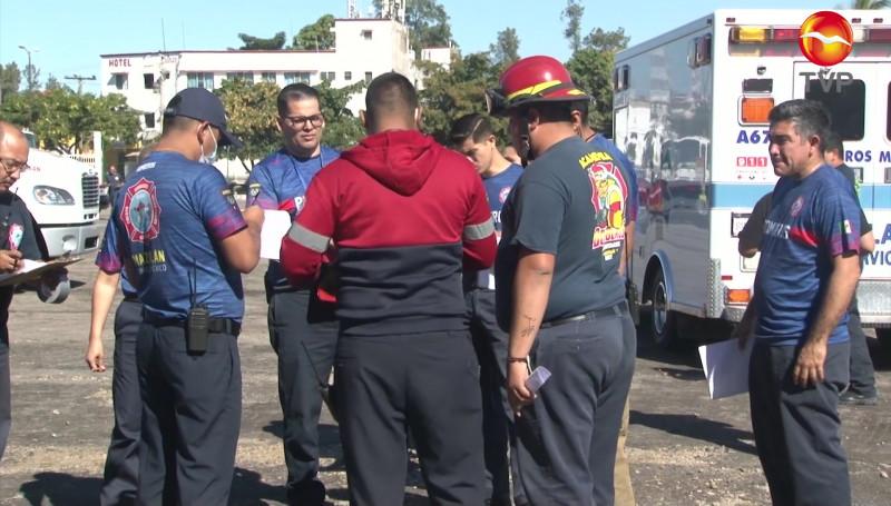 Bomberos Voluntarios realiza simulacro de atención de emergencias químicas