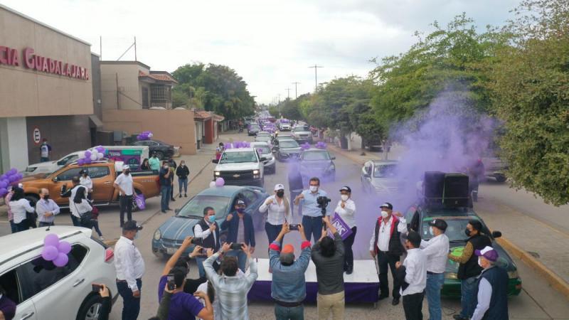 Militantes del PAS de Sinaloa y Guasave apoyan a Cuén