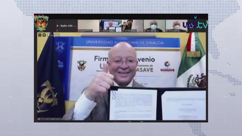 Firma convenio la UAS con municipio de Guasave