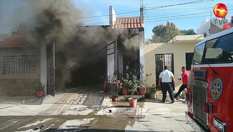 Se incendia vivienda en la Salvador Allende