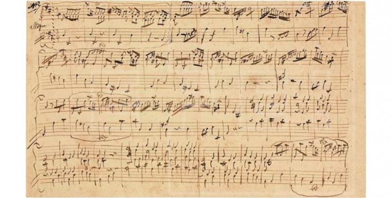 Revelan manuscrito original de Mozart por su 265 cumpleaños: el primero encontrado en 80 años