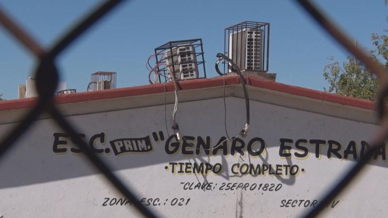 Roban la escuela Genaro Estrada en Bachigualato
