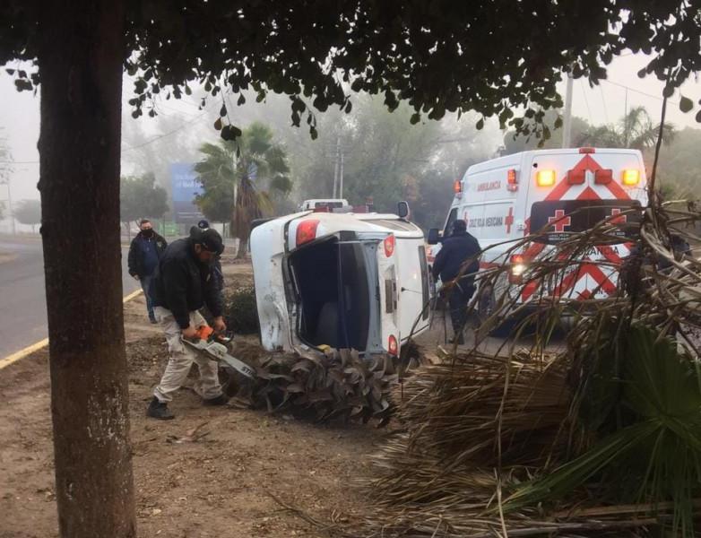 Neblina provoca accidente automovilístico en Navolato