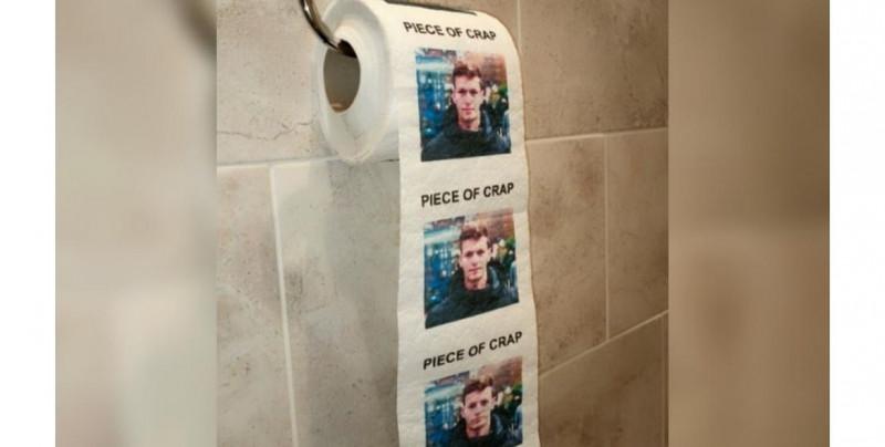 A este papel higiénico le pueden imprimir la cara de tu ex pareja y una frase