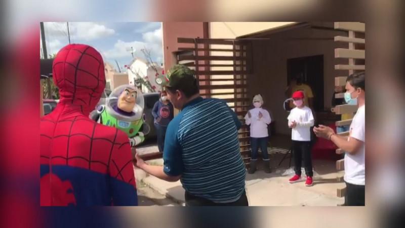 Niños con cáncer recibieron una visita inesperada