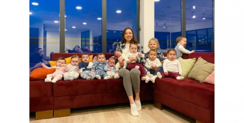 Christina y Galik tienen 11 hijos y les gustaría tener más de 100 con vientres subrogados