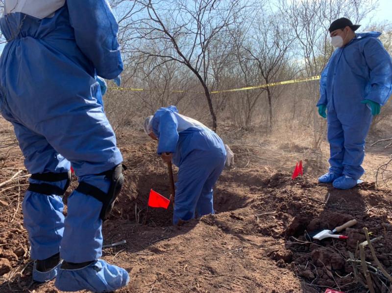 FGJE inicia con el procesamiento del sitio donde locarizaron cuerpos