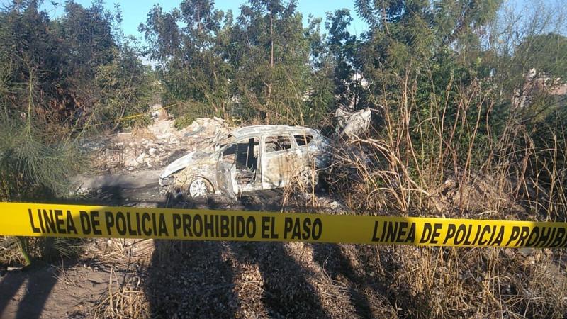Encuentran automóvil quemado, adentro estaban los restos de una persona que quedo totalmente calcinada