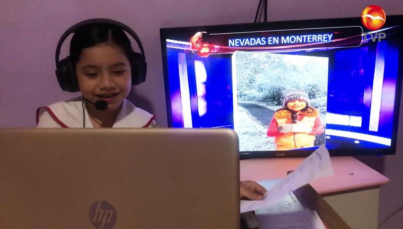 Johana, una pequeña que le pone un toque creativo a sus proyectos escolares