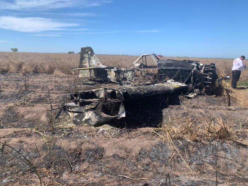Se desploma avioneta en el Valle del Carrizo