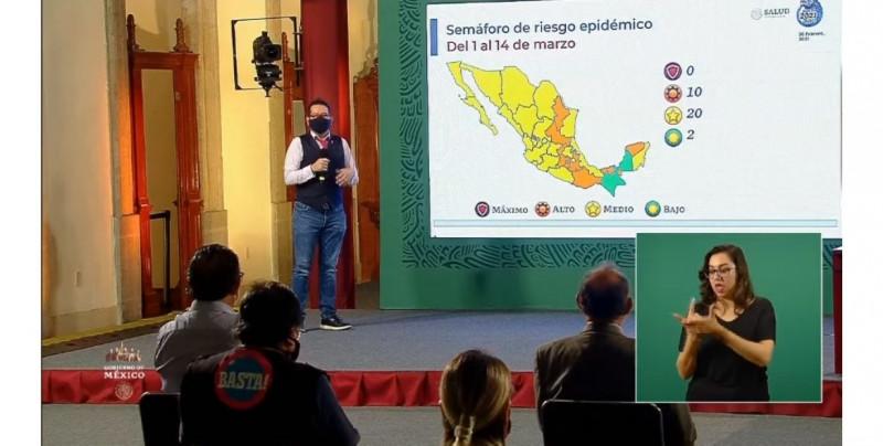 Al fin México no  tiene ningún estado en semáforo epidemiológico rojo: Sinaloa y Sonora en amarillo