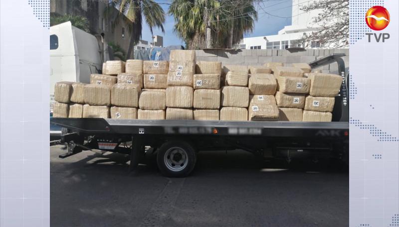Guardia Nacional decomisa paquetes con droga en Concordia