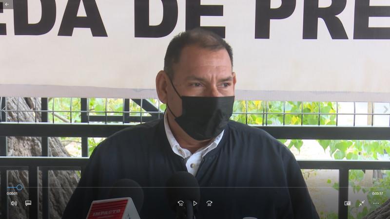Raymundo Simóns como precandidato por el PT en Ahome
